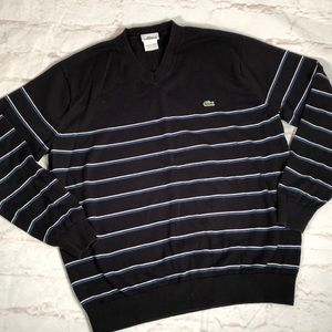 Lacoste striped sweater.  Size 6/Large.
